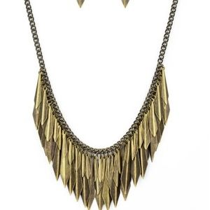 brass Statement Necklace PAPARAZZI